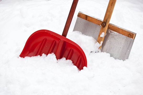 Snow shoveling from home