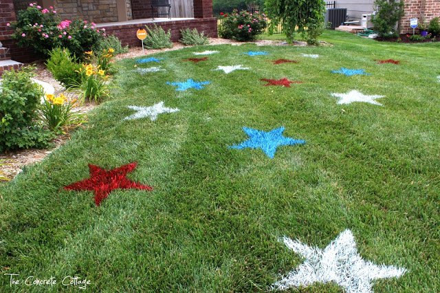 lawn art fourth of july