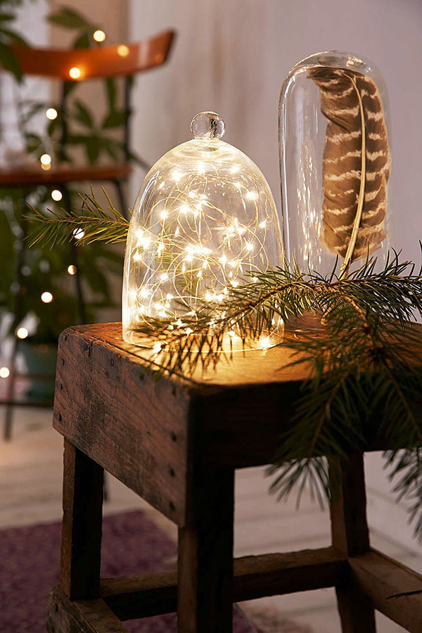 Accent lamp with string lights