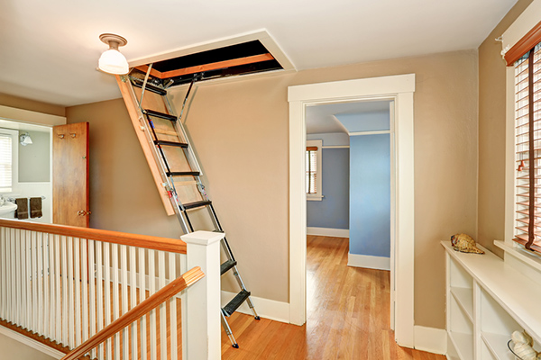 How to repair attic ladder