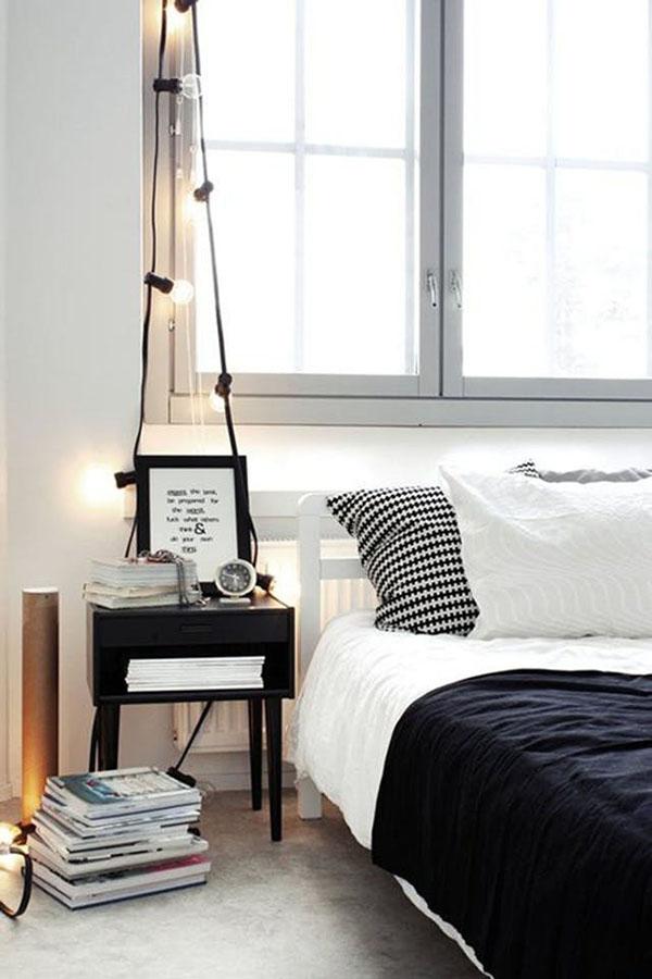 Bedside string lights