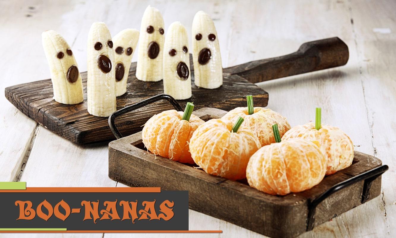 Boonanas in a pumpkin patch