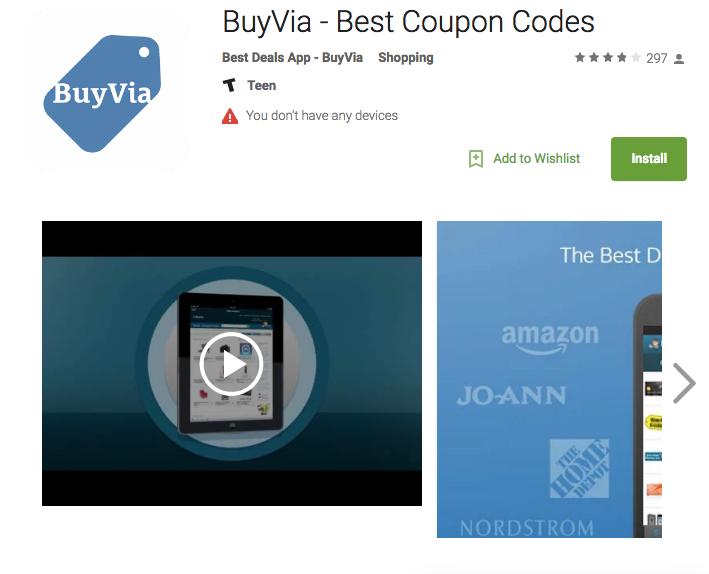 Buy via app