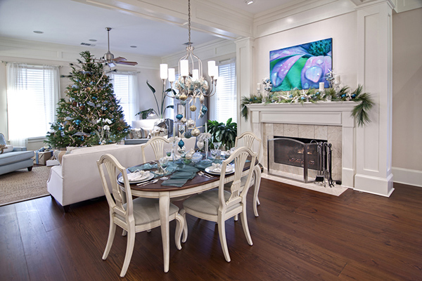 Holiday decorations in home