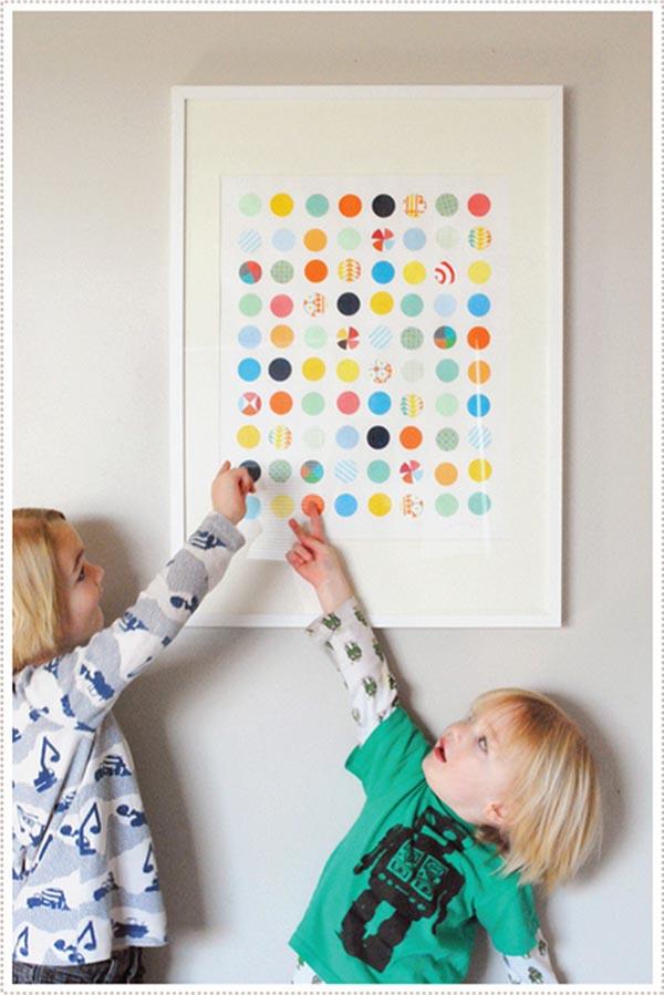Circle Punch wall art