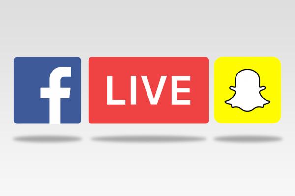 FBLive and Snapchat logos