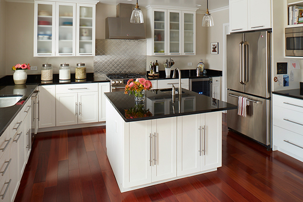Black and white kitchen american home shield