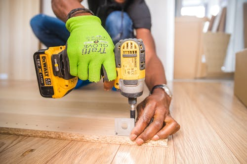 Contractor with drill