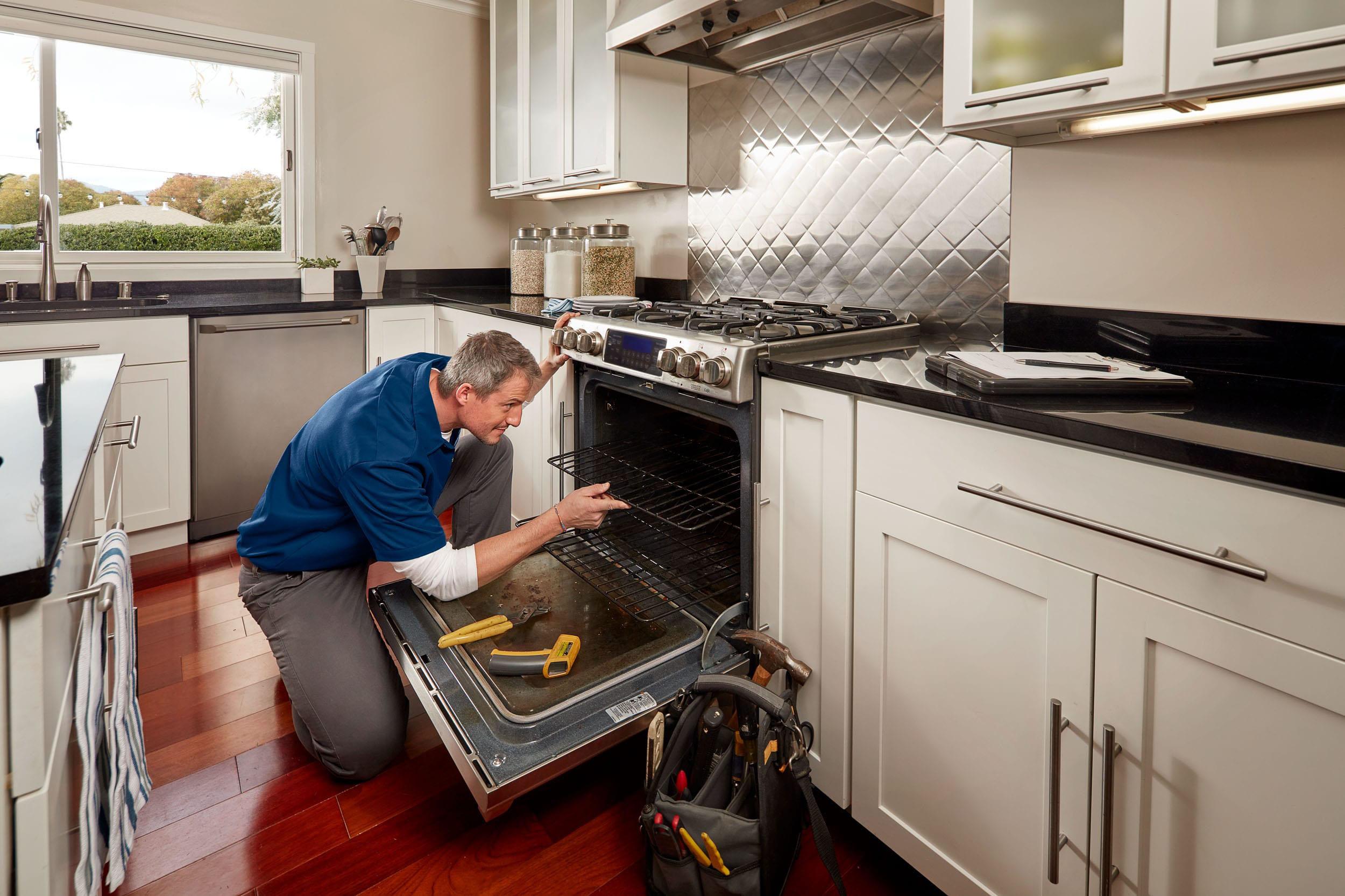 Contractor in oven