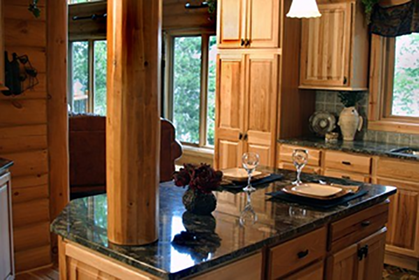 Dark countertops in the kitchen