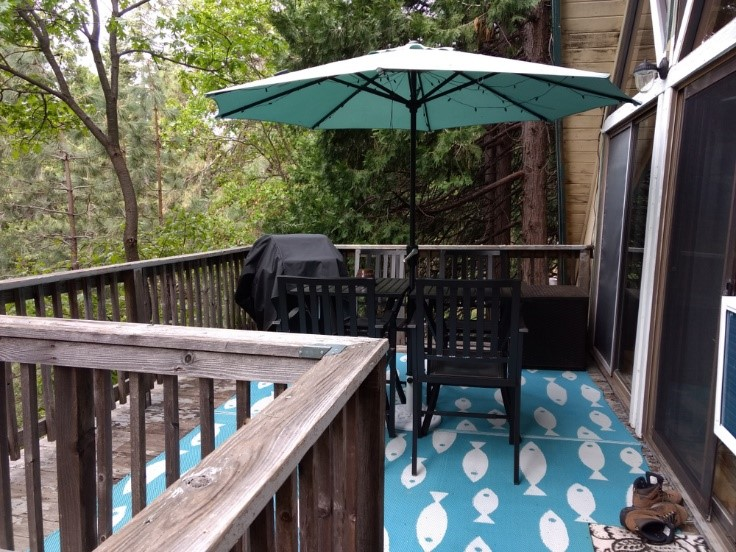 Deck surrounded by trees