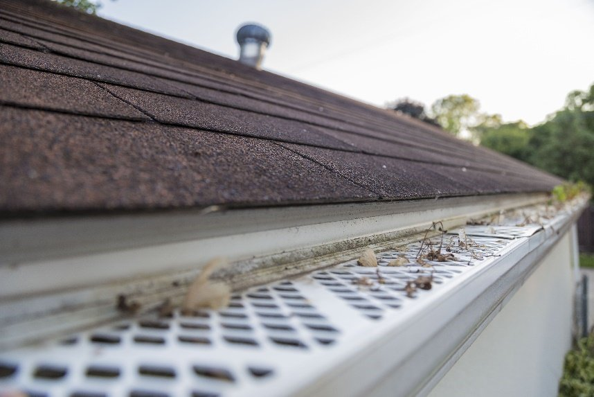 Gutter guards protecting gutters