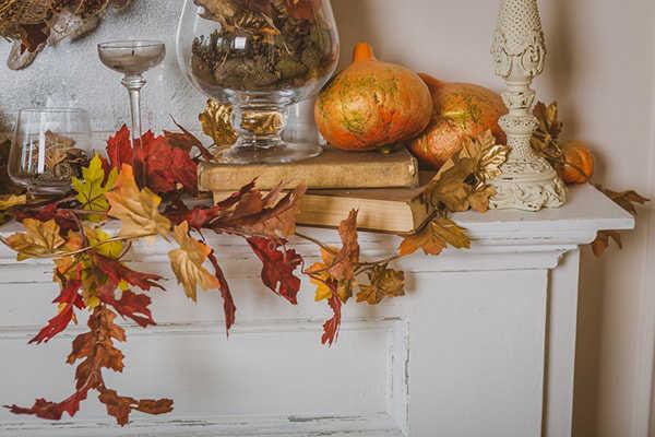 fall fireplace inpiration