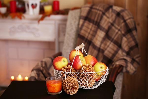 Fall decor on table