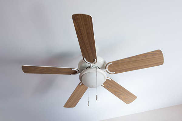 Ceiling fans save on energy