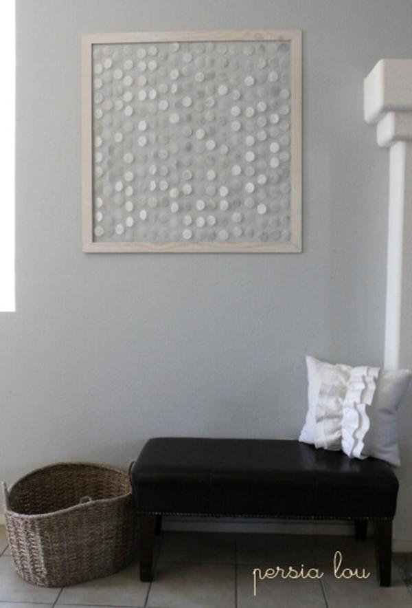 Faux shell wall art
