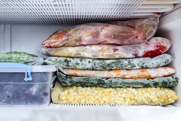 Prevent frost in freezer