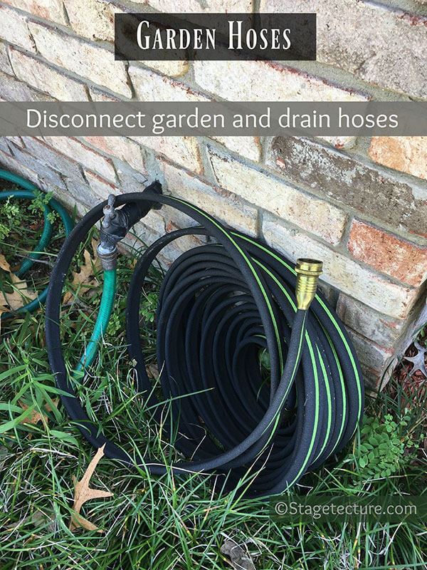Garden hose winter preparation