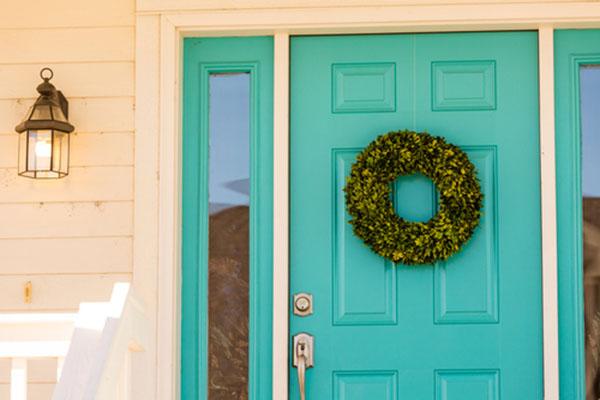green door for porch