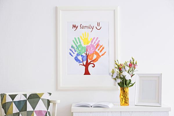 handmade art in home