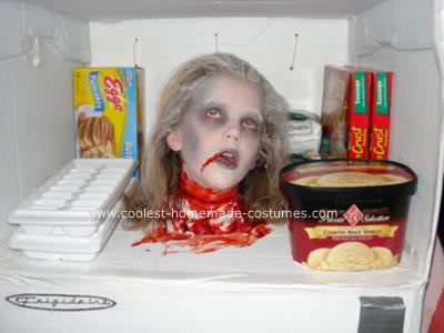 Head in the freezer