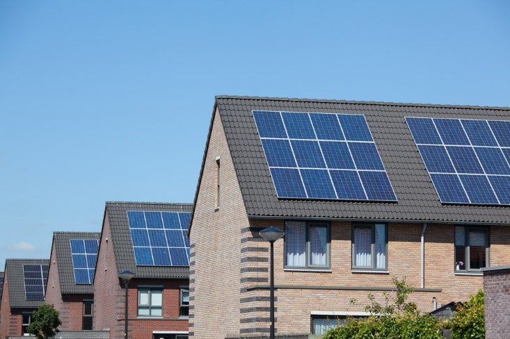 Solar panels on homes
