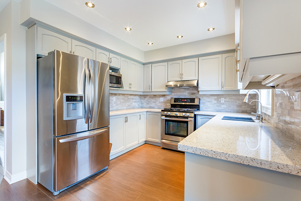 Kitchen covered by home warranty