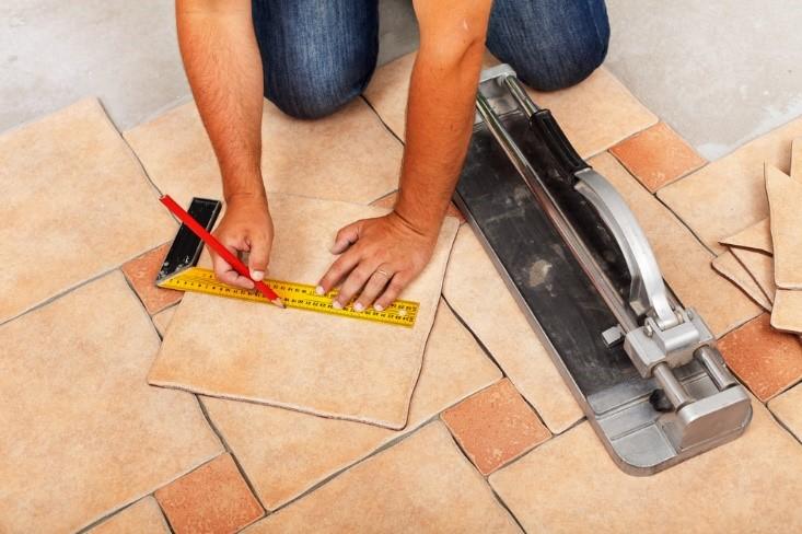 Measuring new tile for floors in home