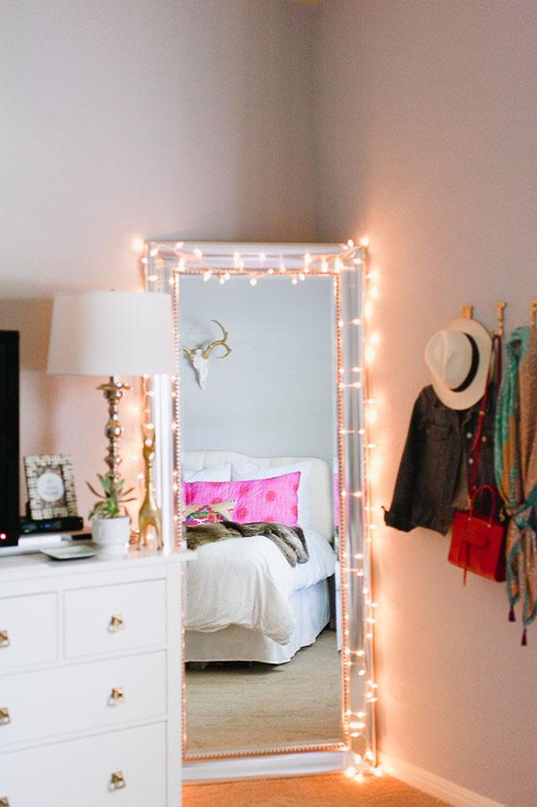 Mirror string lights