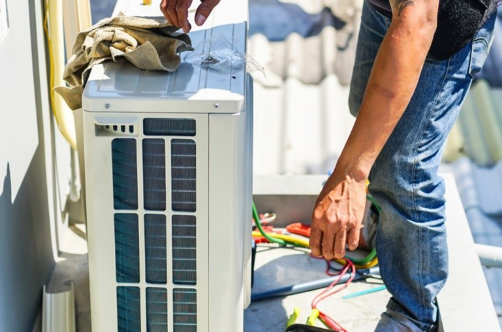 New AC unit installation