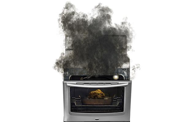 Gas oven burnout