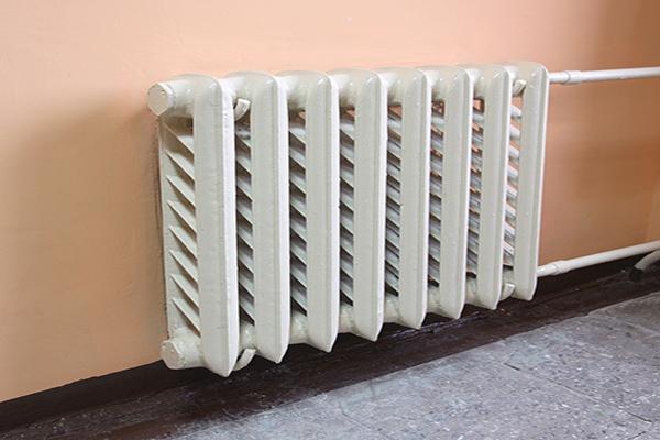 Home radiator on wall