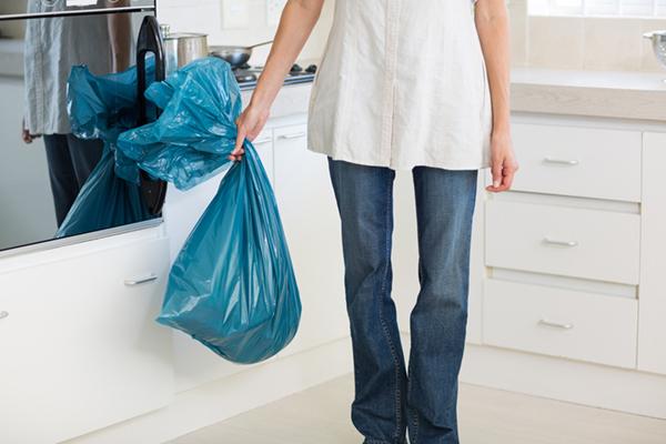 Remove trash before leaving