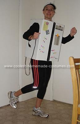 Running refrigerator costume