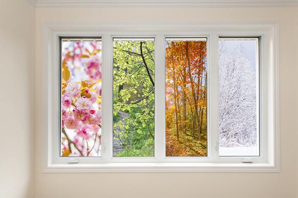Window that shows each season