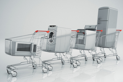 Appliances in shopping carts