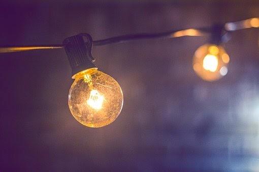 String lights hanging