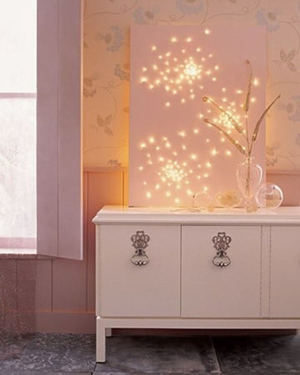 String lights in decor