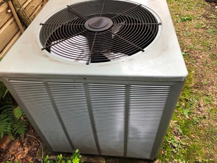 Top of HVAC system