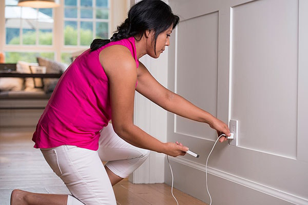 Unplug outlets when leaving home