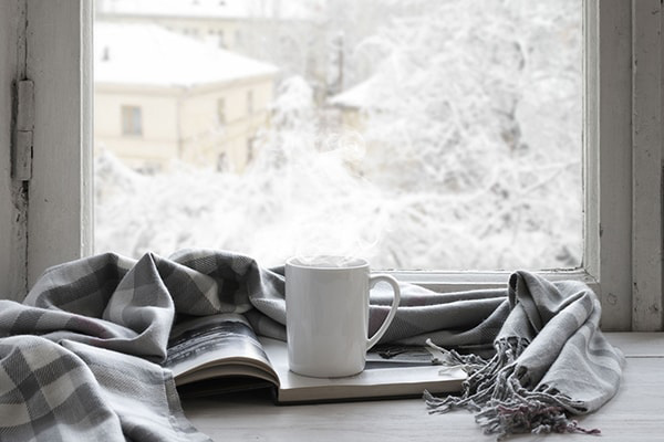 Coffee in warm house