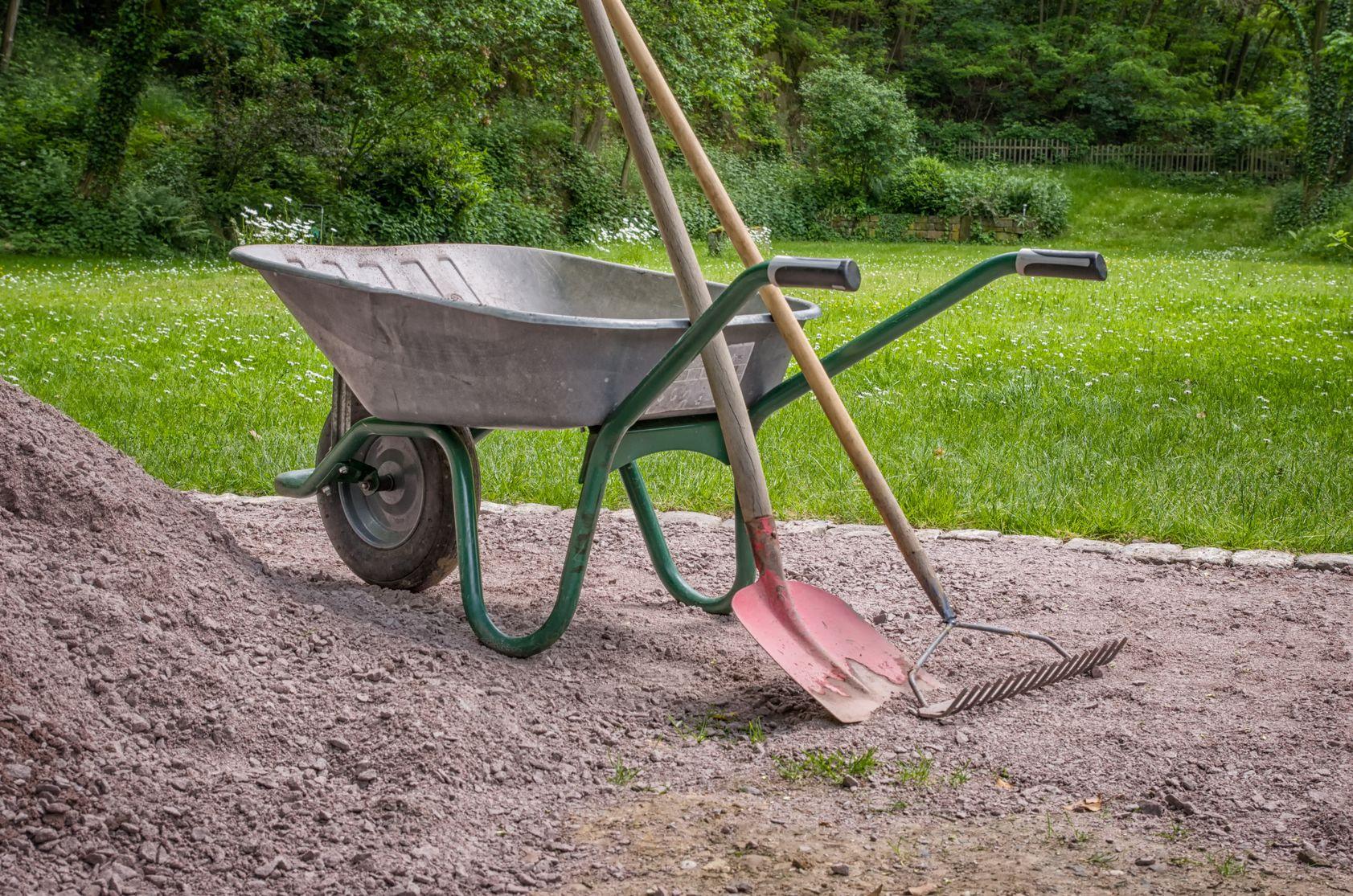 wheel barrow tools garden