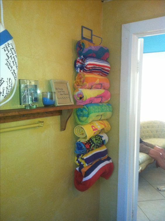 6 Pool Storage Ideas You Can Use Today, Outdoor Beach Towel Storage Ideas
