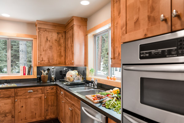 Kitchen Featuring Stainless Electric Double Wall Oven