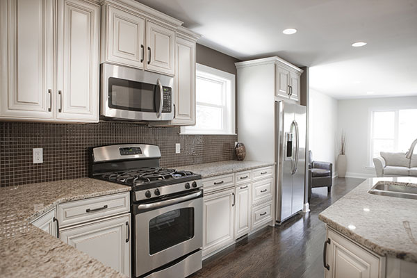 Kitchen with Brand-New Stainless-Steel Appliances