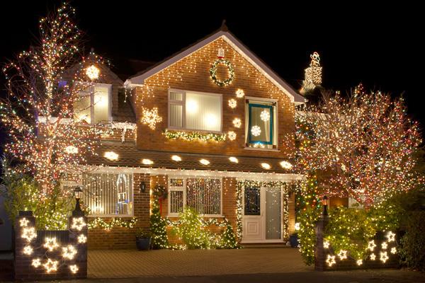 Led Christmas Lights on House