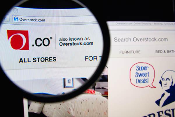 Overstock.Com Website Homepage Shows Deals