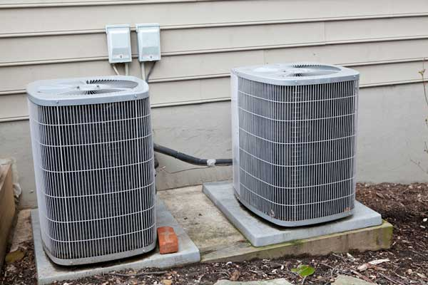Two Central A/C Units Side-by-Side