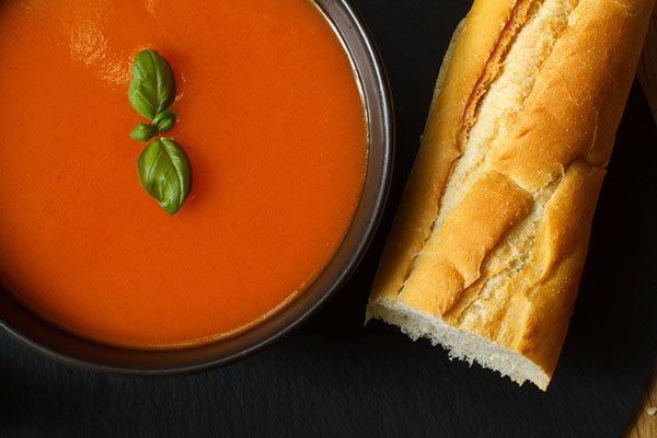 Tomato Soup and Baguette Makes the Perfect Comfort Food