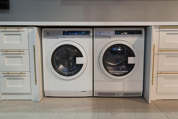 Front Loading Washers Side-by-Side to Save Space